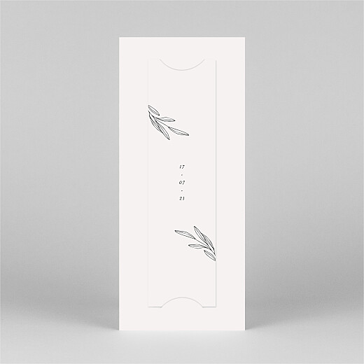 Wedding Thank You Cards Budding branch (bookmark) beige - View 3