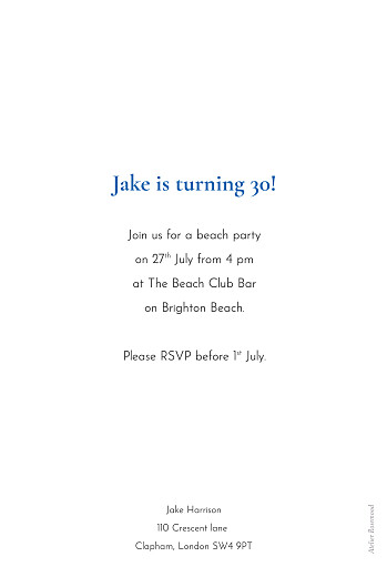 Birthday Invitations One and only white - Page 2