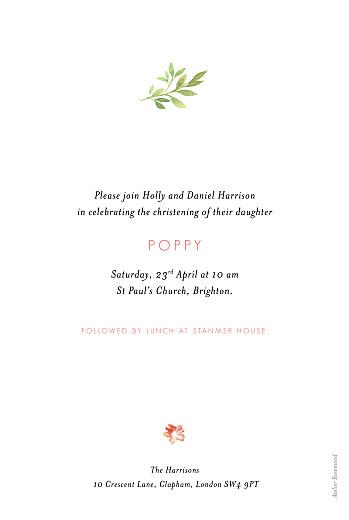 Christening Invitations Spring blossom beige - Page 2