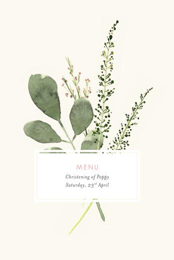 Christening Menus Spring blossom beige