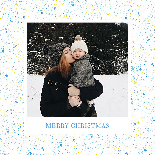 Christmas Cards Liberty stars (foil) silver