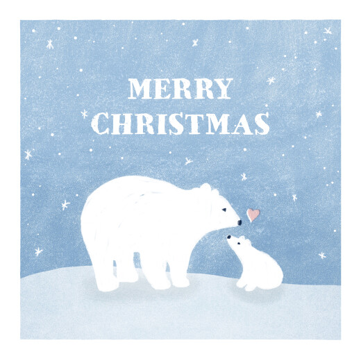 Christmas Cards Polar bears blue
