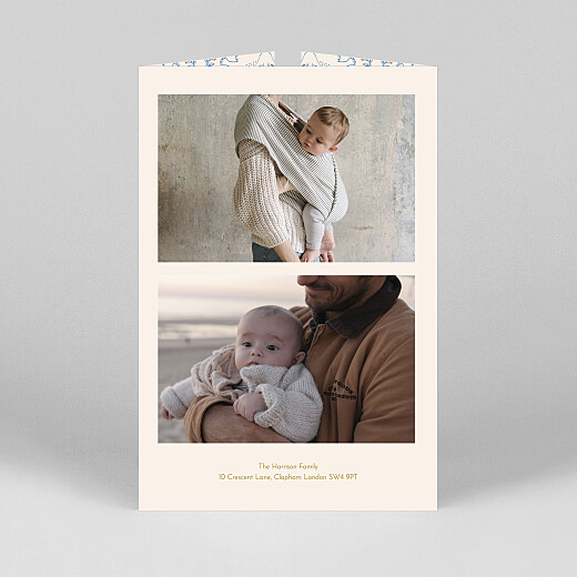 Baby Thank You Cards Soaring gatefold blue - View 3