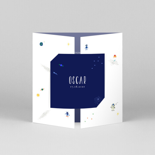 Baby Thank You Cards Once upon a time (gatefold) space - View 1