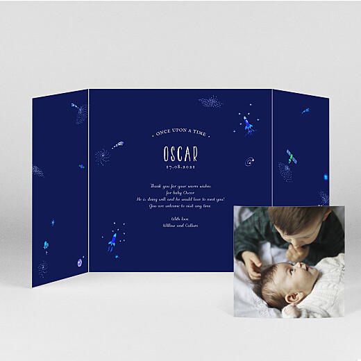 Baby Thank You Cards Once upon a time (gatefold) space - View 2