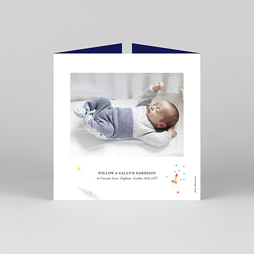 Baby Thank You Cards Once upon a time (gatefold) space - View 3