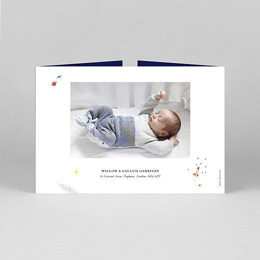 Baby Thank You Cards Once upon a time (landscape gatefold) space - View 3