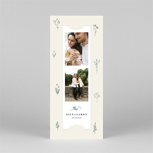 Wedding Invitations Floral minimalist (bookmark) beige - View 2