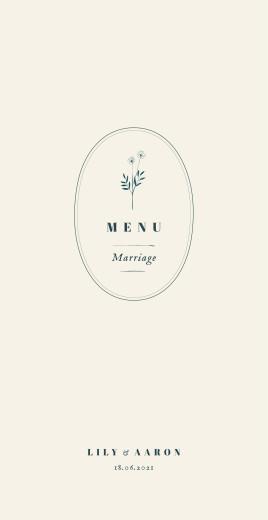 Wedding Menus Floral minimalist beige