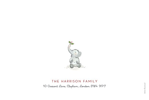 Christmas Cards Elephant festive family of 4 white - Page 4