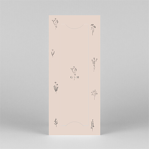 Baby Thank You Cards Floral minimalist (bookmark) pink - View 3
