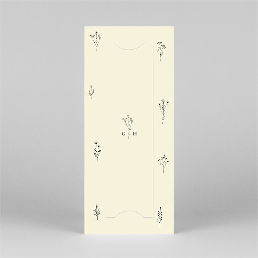 Baby Thank You Cards Floral minimalist (bookmark) beige - View 3
