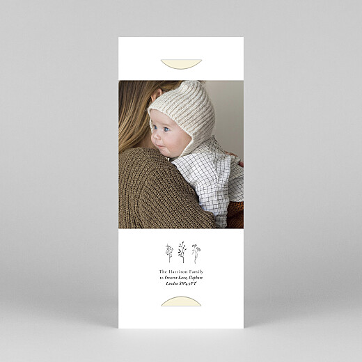 Baby Thank You Cards Floral minimalist (bookmark) beige - View 4