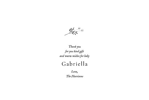 Baby Thank You Cards Floral minimalist (6 photos) beige - Page 3