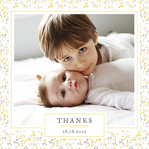 Personalised Baby Thank You Cards from 85p | Rosemood | Free