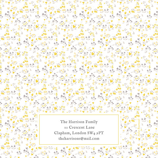 Baby Thank You Cards Liberty hearts 4 pages (foil) yellow - Page 4