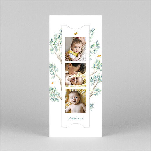 Baby Thank You Cards Koala family of 3 (bookmark) white - View 2
