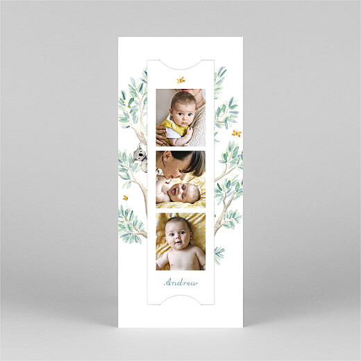 Baby Thank You Cards Koala family of 4 (bookmark) white - View 2