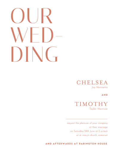 Wedding Invitations The big day (portrait) red
