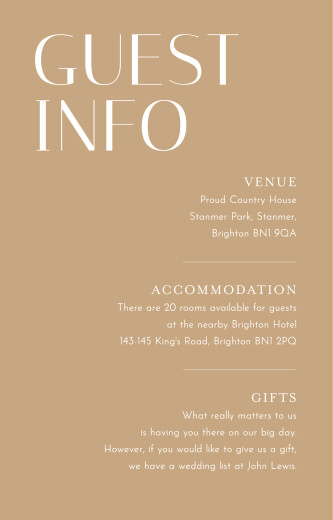 Guest Information Cards The big day (small) blue
