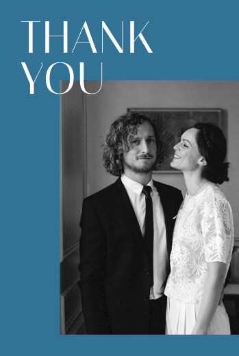 Wedding Thank You Cards The big day blue