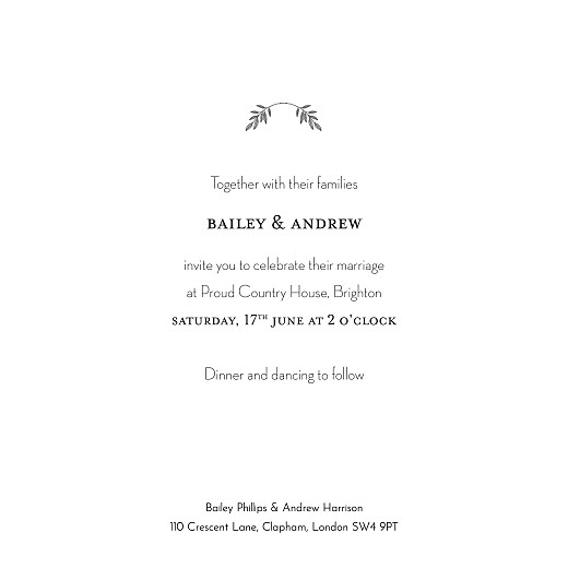 Wedding Invitations Springs eternal (foil) white - Page 3