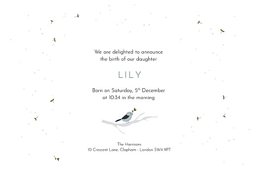 Baby Announcements Winter family (2 children) 1 - Page 3