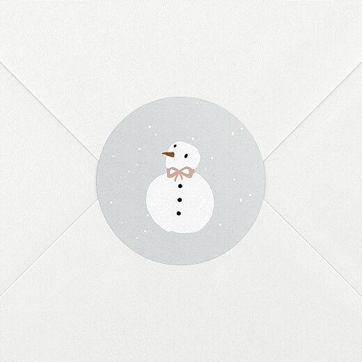 Baby Stickers Winter family snowman - View 2