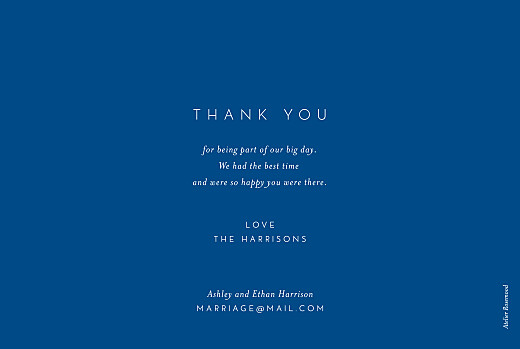 Wedding Thank You Cards Calligraphy blue - Page 2