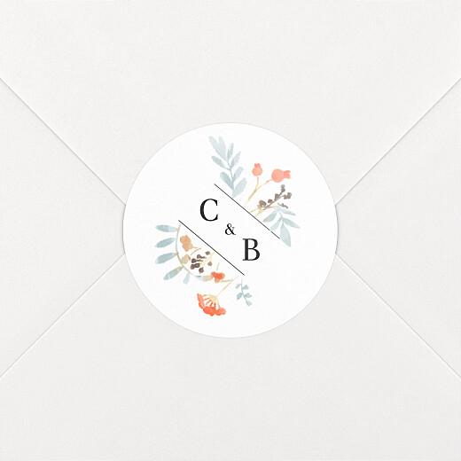 Wedding Envelope Stickers Summer solstice white - View 2