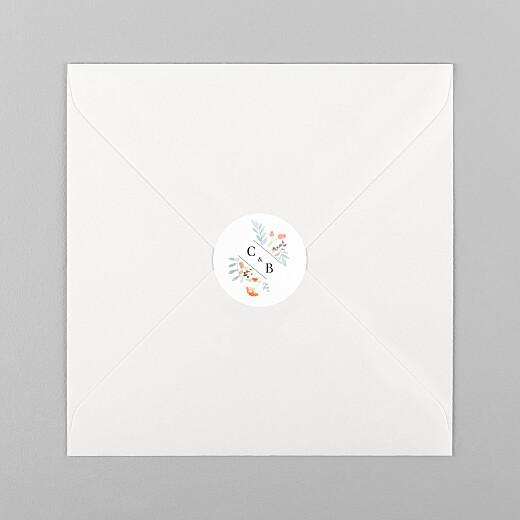Wedding Envelope Stickers Summer solstice white - View 1