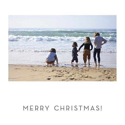 Christmas Cards Elegant sapling (foil) white