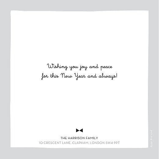 Christmas Cards Bowtie (foil) grey - Page 2
