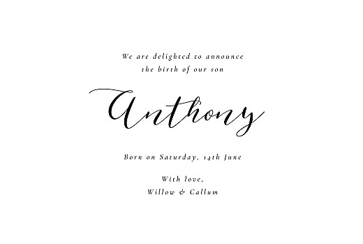 Baby Announcements Calligraphy (4 pages) white - Page 3