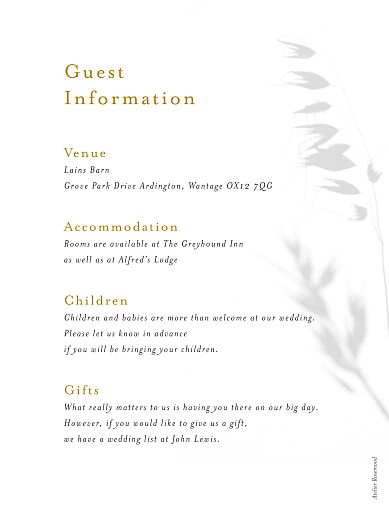 Guest Information Cards Coastal dream spikelets - Page 2