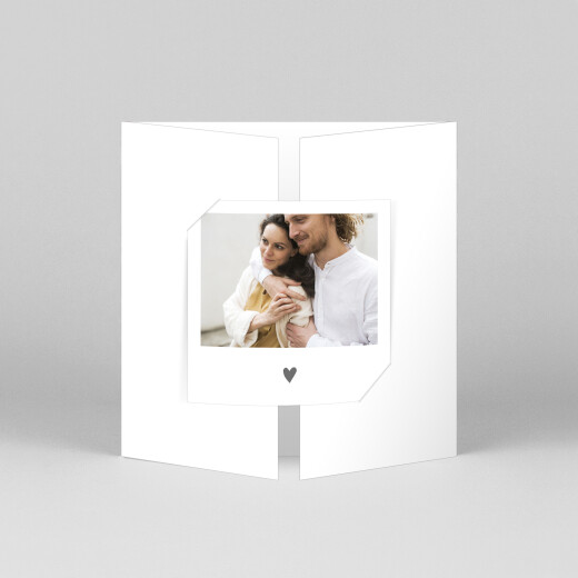 Wedding Invitations Elegant heart (gatefold) white - View 1