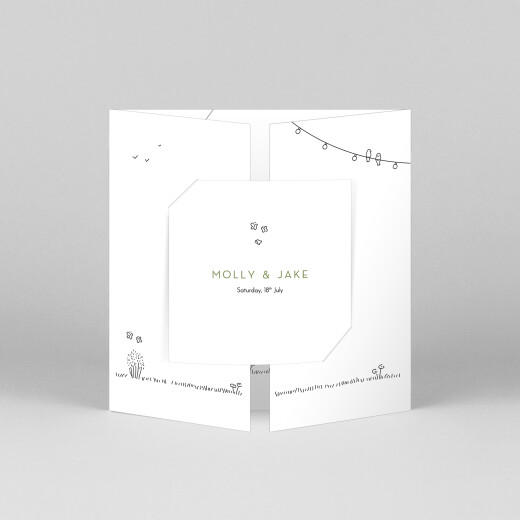 Wedding Invitations Bohemian promise (gatefold) white - View 1
