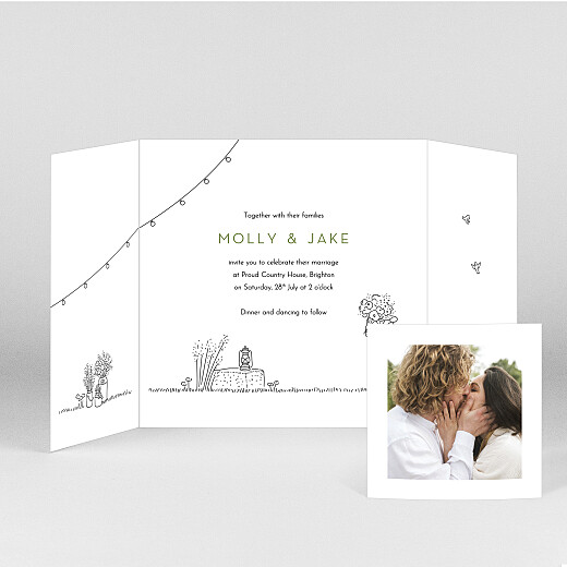 Wedding Invitations Bohemian promise (gatefold) white - View 2
