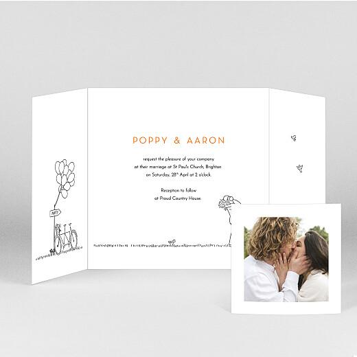 Wedding Invitations Rustic promise (gatefold) white - View 2