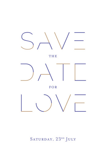 Save The Dates Love code blue