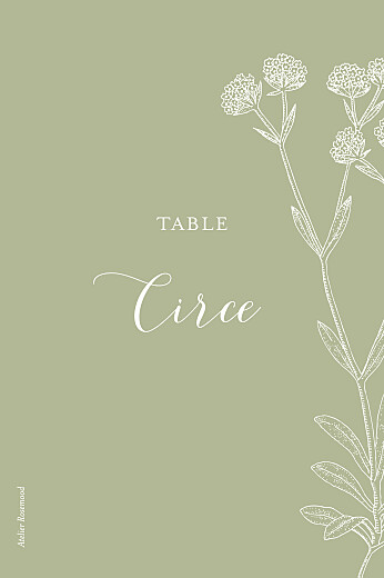 Wedding Table Numbers Hearts aflutter green - Page 2