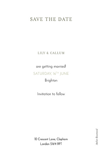 Save The Date Cards Hearts aflutter green - Page 2