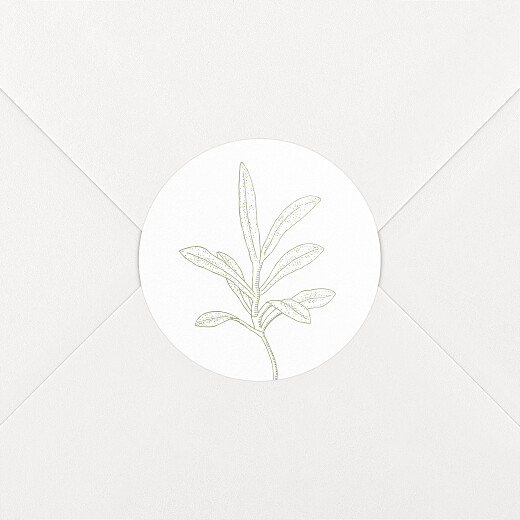 Wedding Envelope Stickers Hearts aflutter green - View 2