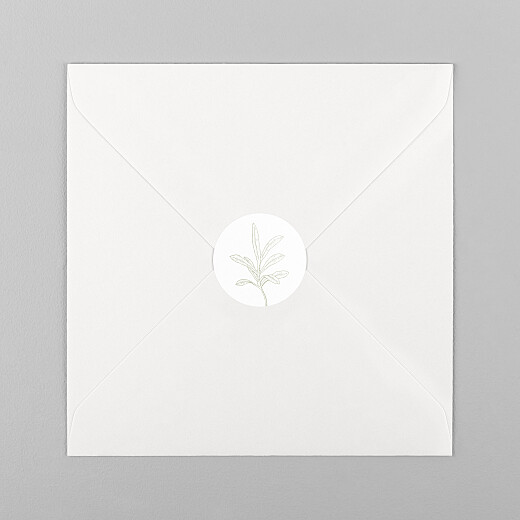 Wedding Envelope Stickers Hearts aflutter green - View 1
