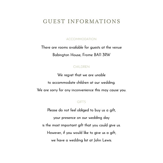 Guest Information Cards Hearts aflutter green - Page 2