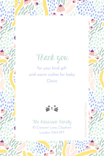 Baby Thank You Cards Lucky charm by dodo toucan green
