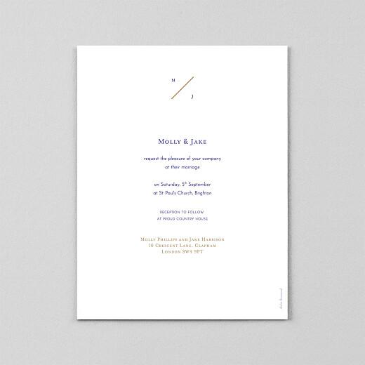 Wedding Invitations Love code (vellum) blue - View 3