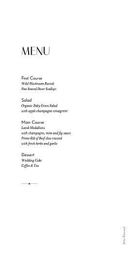 Wedding Menus Insignia 1 - Page 2