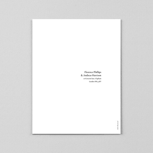 Wedding Invitations Today & always portrait (vellum) white - View 3