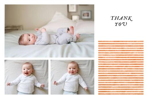 Baby Thank You Cards Petit bateau x rosemood (stripes) orange